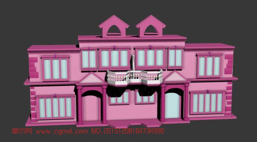 建筑模型 国外建筑  标签:欧式建筑房子别墅独栋