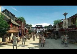 古代繁华街景