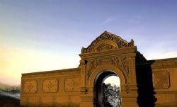 黄昏-古代造型大门