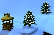 卡通圣诞雪景maya模型