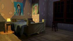 简单的卡通卧室场景,有灯光和材质贴图