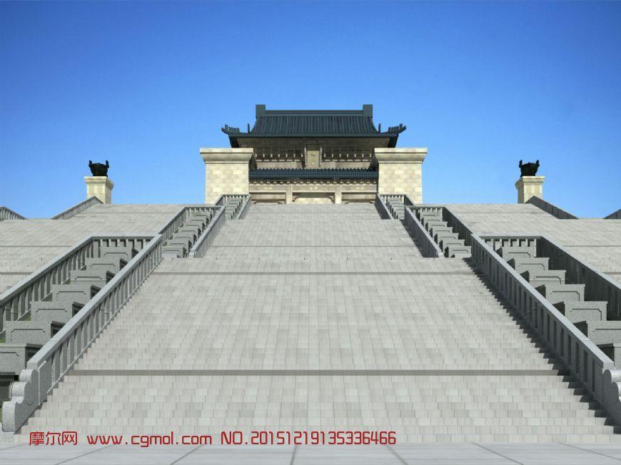 南京中山陵总体模型原创