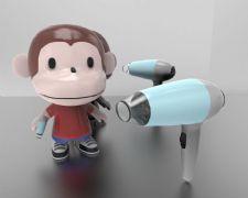 大嘴猴 +吹风机max模型