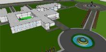 校园鸟瞰设计