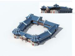 中式建筑游戏场景