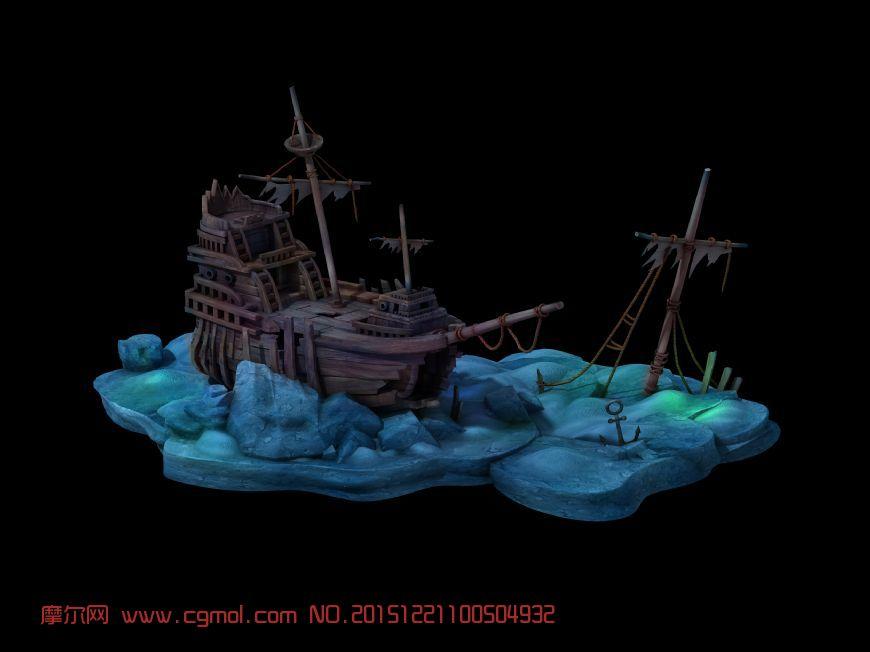 场景模型 古代场景  标签:船海底 作品描述: 作者其他作品 上一个作品