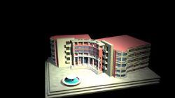 一个图书馆的maya建模