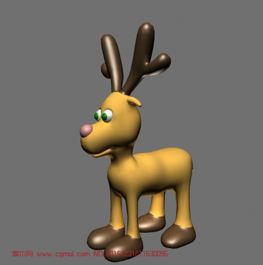 动物模型 哺乳动物  标签:小鹿卡通