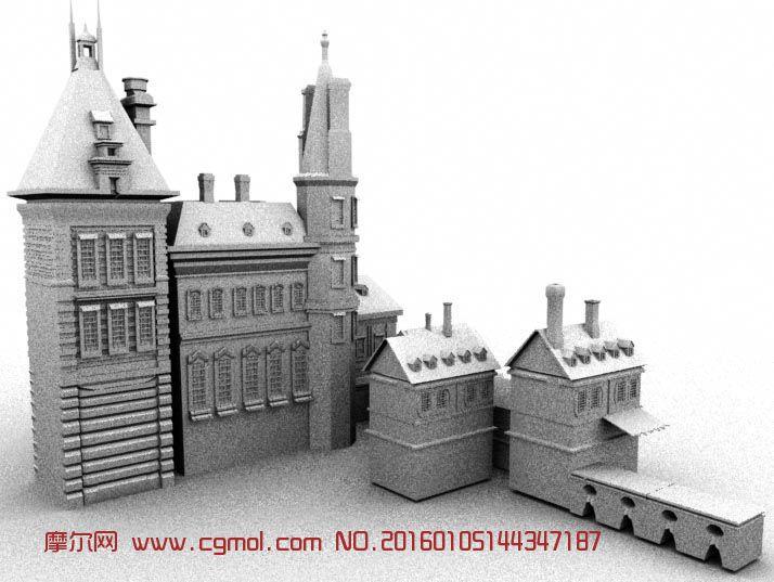 建筑桥船城堡 作品描述:场景模型 上一个作品:    3dmax古代房屋建模