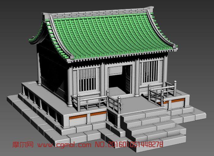 3dmax古代房屋建模