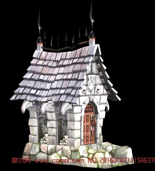 手绘游戏中的房子