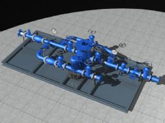 冷却水系统泵组,机械设备模型