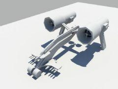 原创机械飞机模型