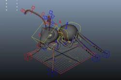 蚂蚁模型带绑定