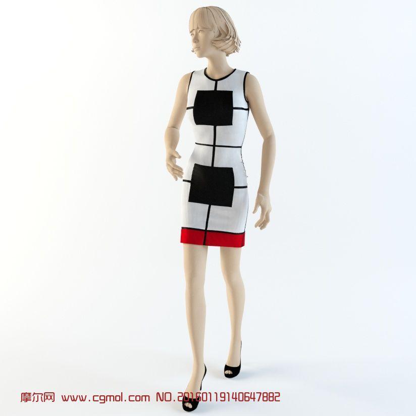 男模特女模特橱窗背景店面模特服装店模型人物模型