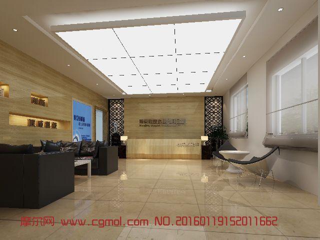 室内模型 整体效果  标签:办公大厅前台明亮石材 作品描述:年货 作者