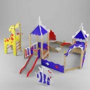 儿童设备游乐场沙坑,篮球架