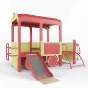 儿童设备游乐场梯子滑滑梯