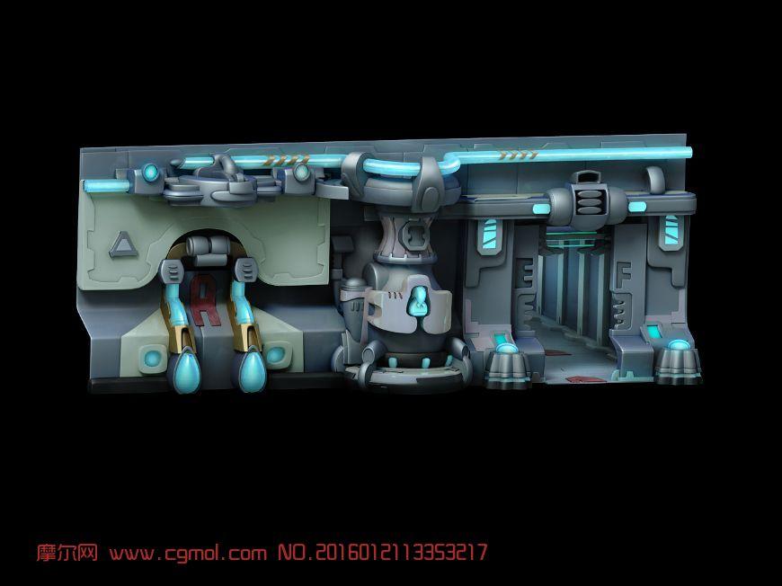 汽车小饰品店_星战科幻墙壁,科幻场景,场景模型,3d模型下载,3D模型网,maya模型 ...