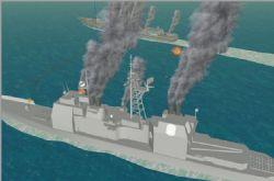 海战-美国提康德罗加级巡洋舰和俄罗斯无畏II级驱逐舰火拼