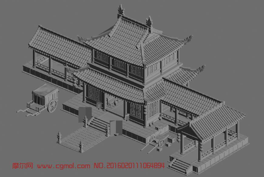 建筑模型 中式建筑  标签:古代建筑古建客栈楼阁阁楼 作品描述: 上一
