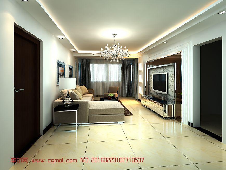 室内模型 室内家具  标签:max大厅模型简约现代简欧