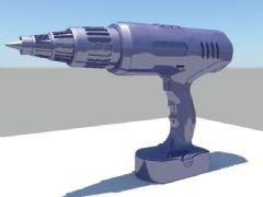 maya钻头,电钻模型
