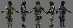 特种兵,特警,军人 游戏人物