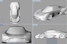 跑车3D打印模型