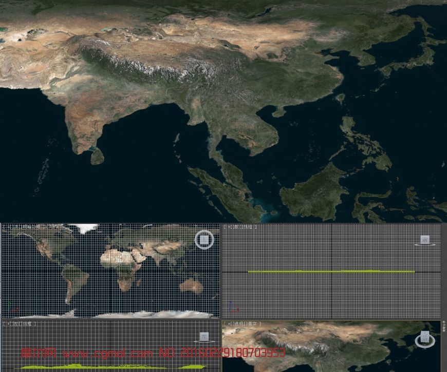 地球影像�M版浮雕模型