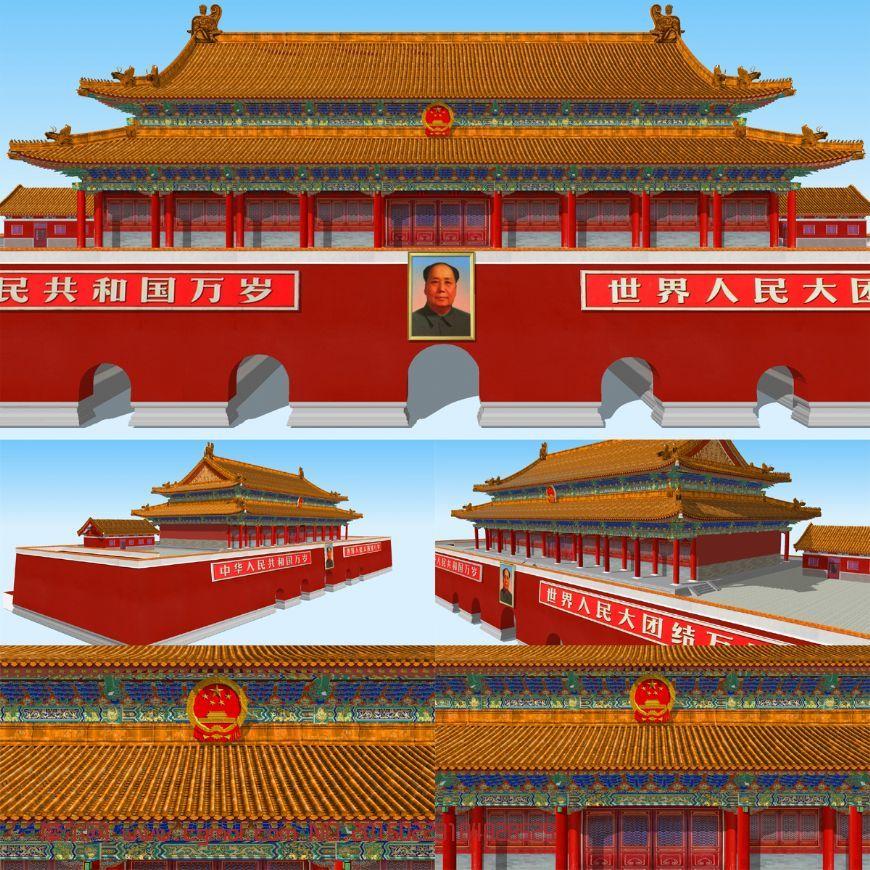 北京天安门3D模型
