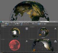 �U空的地球3D模型