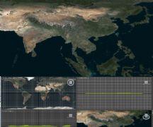 地球影像横版浮雕模型