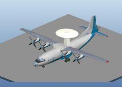 预警机航模3D打印模型