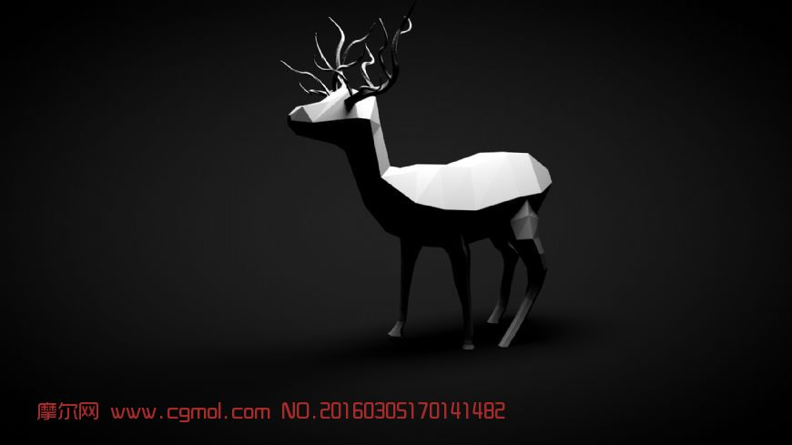 动物模型 哺乳动物  标签:折纸麋鹿