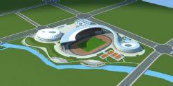 體育場鋼結構精細模型