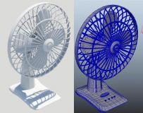maya电扇模型  风扇