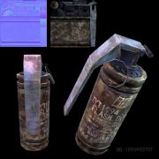 flash bomb迷彩闪光弹,内含有法线,颜色贴图