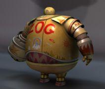 很萌胖�C器人maya模型