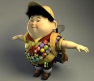 飞屋环游-小胖子的maya模型