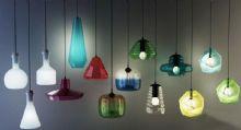 各种造型奇特的玻璃吊灯