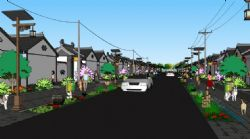乡村街道模型