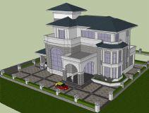 双层小别墅su模型