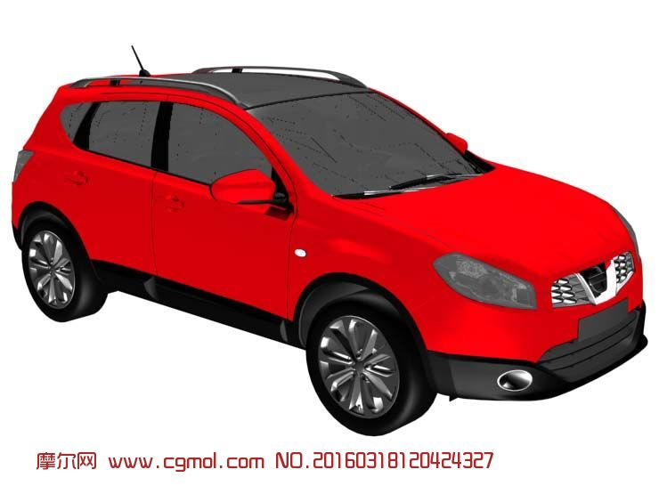 Nissan尼桑新款楼兰SUV模型,汽车,运输模型,3d模型下载,3D高清图片
