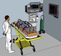 医疗救护设施su模型
