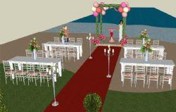 户外婚礼场景su模型