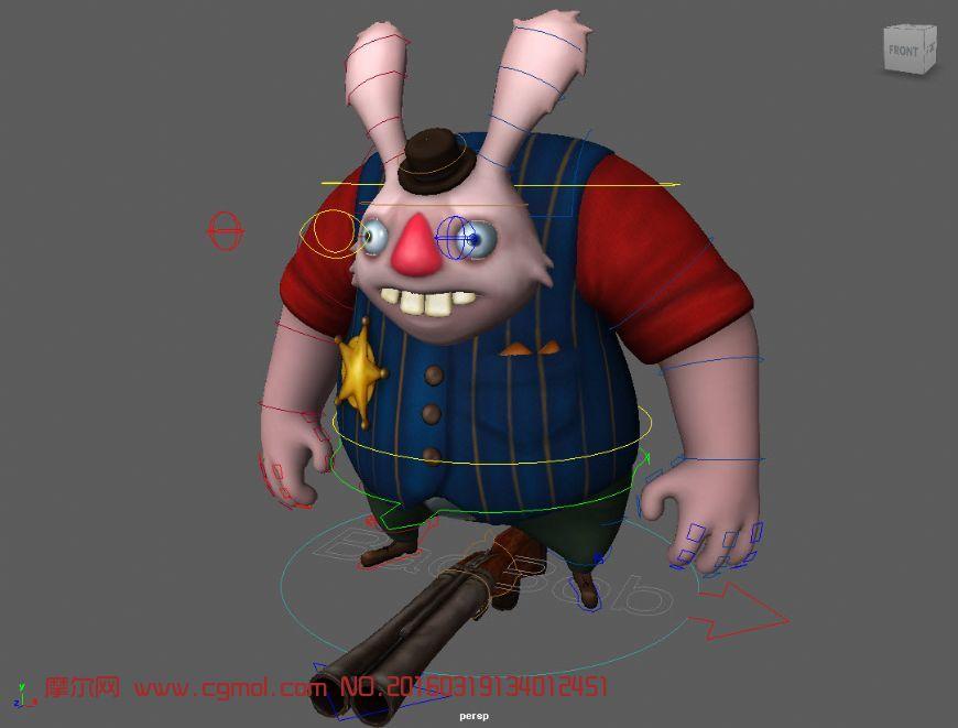 坏bob兔Maya 2015模型