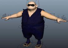 胖忍者maya模型