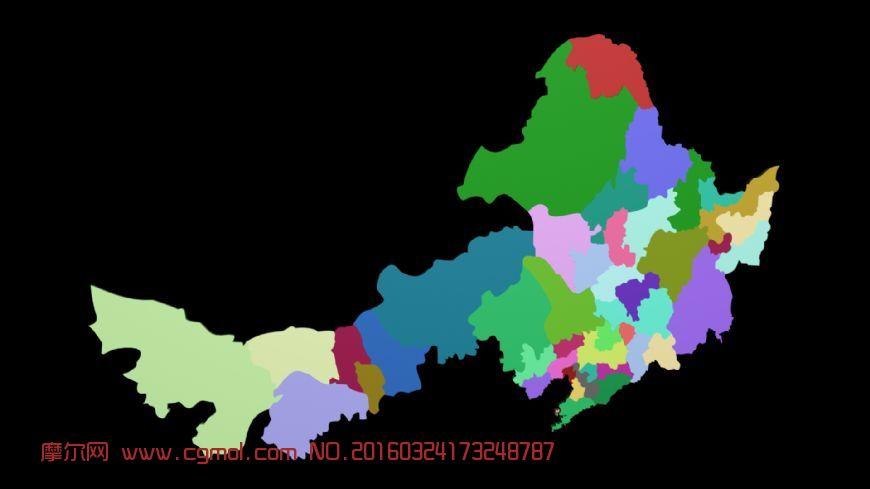 黑龙江 吉林省 地图 双城市展示
