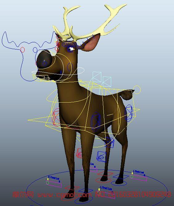 动物模型 哺乳动物  标签:麋鹿绑定卡通